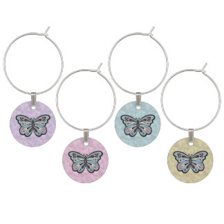 Bold Butterfly wine charms