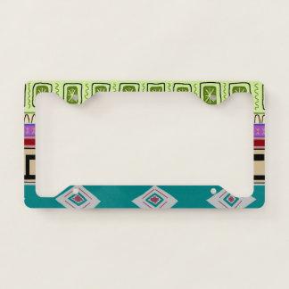 Bold Charango Tribal Pattern License Plate Frame