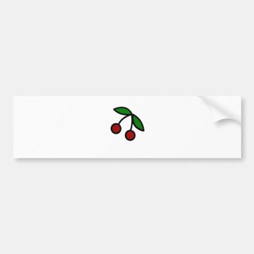 Bold Cherries Illustration Bumper Sticker