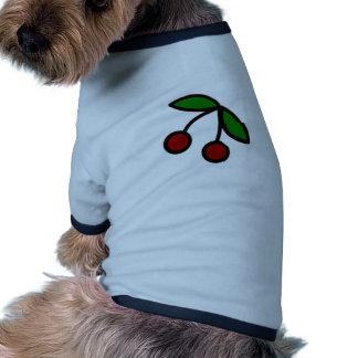 Bold Cherries Illustration Pet Tshirt