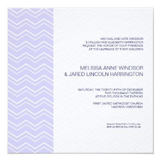 Bold Chevron Stripe Lavender Purple Affordable 13 Cm X 13 Cm Square Invitation Card