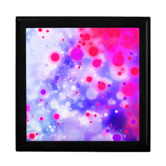 Bold & Chic Blue Pink Watercolor Abstract Large Square Gift Box