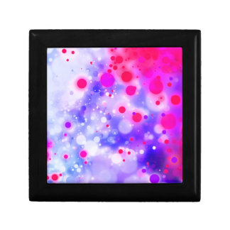 Bold & Chic Blue Pink Watercolor Abstract Small Square Gift Box