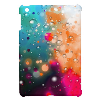 Bold & Chic Blue Red Orange Watercolor Abstract iPad Mini Cases