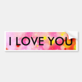 Bold & Chic Fuchsia Pink Watercolor Abstract Bumper Sticker