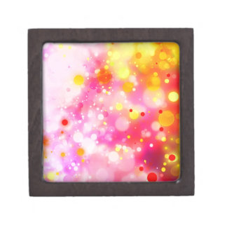 Bold & Chic Fuchsia Pink Watercolor Abstract Premium Jewelry Box