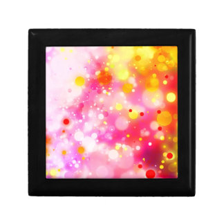Bold & Chic Fuchsia Pink Watercolor Abstract Small Square Gift Box