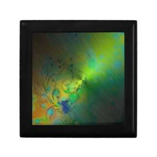 Bold & Chic GREEN TEAL Watercolor Abstract Small Square Gift Box