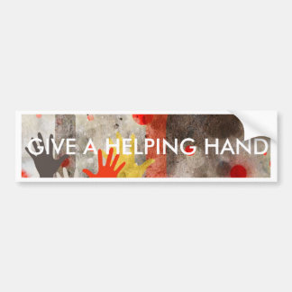 Bold & Chic Hands Red Watercolor Abstract Bumper Sticker