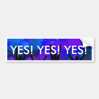 Bold & Chic Jumping for Joy Watercolor Abstract Bumper Sticker