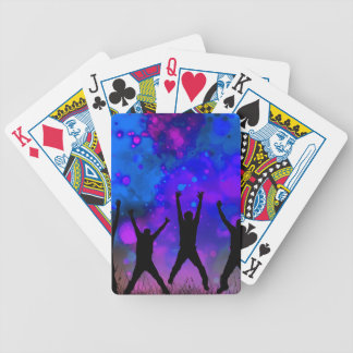 Bold & Chic Jumping for Joy Watercolor Abstract Poker Deck
