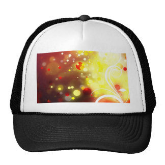 Bold & Chic Peach Red Yellow Watercolor Abstract Cap