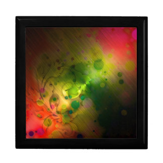Bold & Chic Red and Green Watercolor Abstract Large Square Gift Box