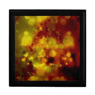 Bold & Chic Red and Yellow Watercolor Abstract Large Square Gift Box