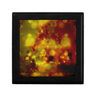 Bold & Chic Red and Yellow Watercolor Abstract Small Square Gift Box