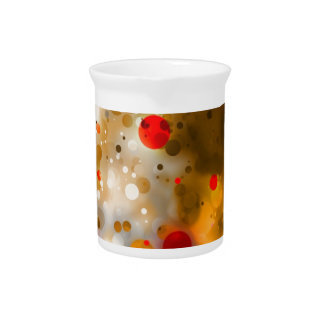 Bold & Chic Red Brown Orange Watercolor Abstract Beverage Pitchers