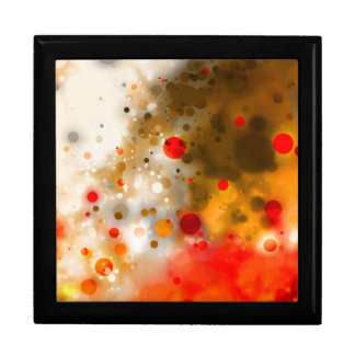 Bold & Chic Red Brown Orange Watercolor Abstract Large Square Gift Box
