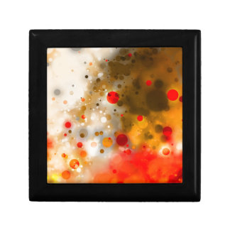 Bold & Chic Red Brown Orange Watercolor Abstract Small Square Gift Box