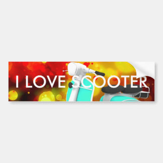 Bold & Chic Scooter Watercolor Abstract Bumper Sticker