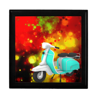 Bold & Chic Scooter Watercolor Abstract Large Square Gift Box
