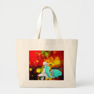 Bold & Chic Scooter Watercolor Abstract Large Tote Bag