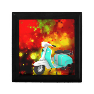 Bold & Chic Scooter Watercolor Abstract Small Square Gift Box