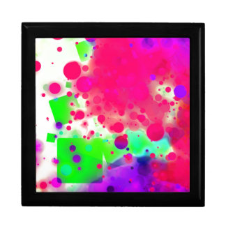Bold & Chic SQUARE & CIRCLES Watercolor Abstract Large Square Gift Box