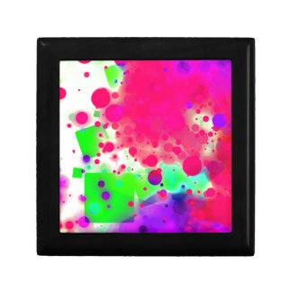 Bold & Chic SQUARE & CIRCLES Watercolor Abstract Small Square Gift Box