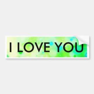 Bold & Chic Teal Green Watercolor Abstract Bumper Sticker