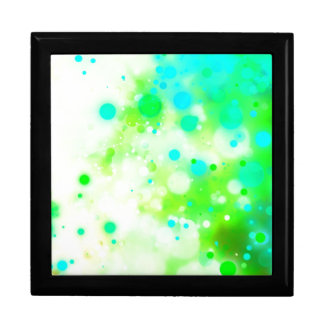 Bold & Chic Teal Green Watercolor Abstract Large Square Gift Box