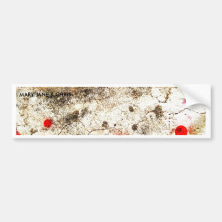 Bold & Chic Wood Red Yellow Watercolor Abstract Bumper Sticker