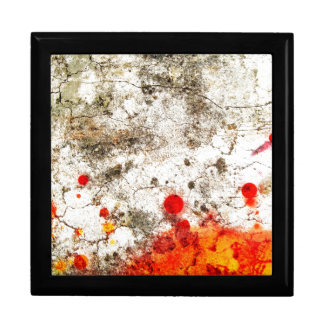 Bold & Chic Wood Red Yellow Watercolor Abstract Large Square Gift Box