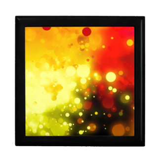 Bold & Chic Yellow and Red Watercolor Abstract Large Square Gift Box