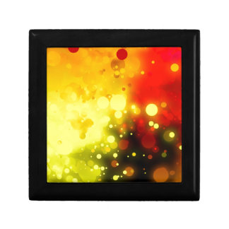 Bold & Chic Yellow and Red Watercolor Abstract Small Square Gift Box