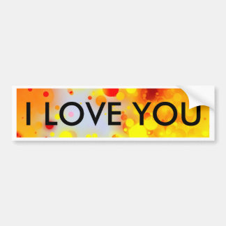 Bold & Chic Yellow Red Orange Watercolor Abstract Bumper Sticker
