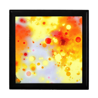 Bold & Chic Yellow Red Orange Watercolor Abstract Large Square Gift Box