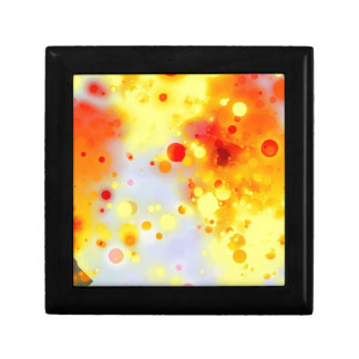 Bold & Chic Yellow Red Orange Watercolor Abstract Small Square Gift Box
