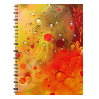 Bold & Chic Yellow Rose Red Watercolor Abstract Spiral Notebook