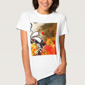 Bold & Chic Yellow Rose Red Watercolor Abstract T-shirt