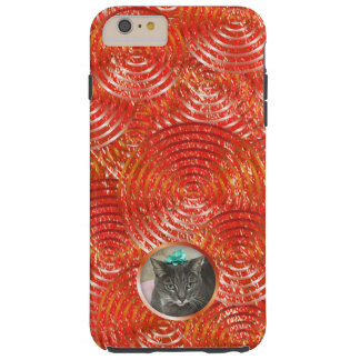 Bold Chinese red splash with window Tough iPhone 6 Plus Case