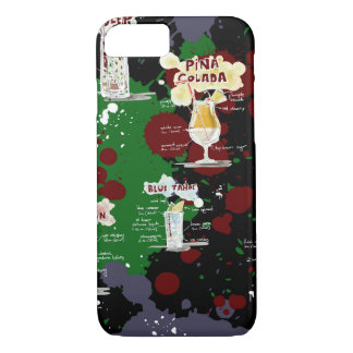 Bold Cocktail Drink Recipe Design iPhone 7 Case