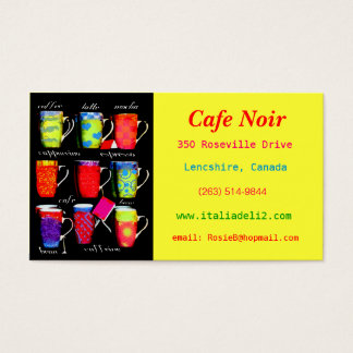 Bold Coffee / Cafe Business Card