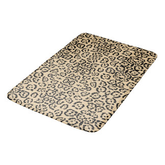 Bold Coffee Leopard Animal Cat Print Brown Bath Mat