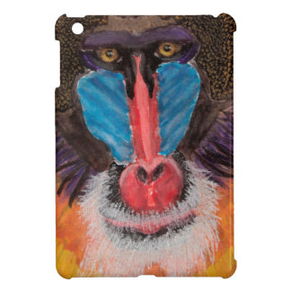 Bold Colored Baboon Face in Contemporary Style iPad Mini Cover
