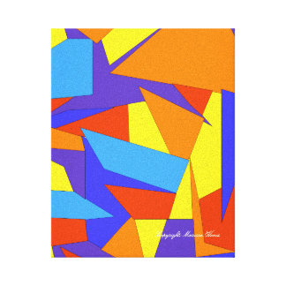 Bold Colorful Abstract Canvas Canvas Print