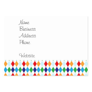 Bold Colorful Argyle Diamond Tile Fun Patterns Pack Of Chubby Business Cards