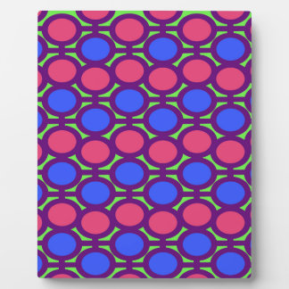 Bold Colorful Bubble Eyelets Plaque
