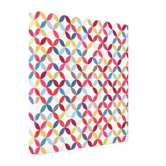 Bold colorful circular pattern canvas print