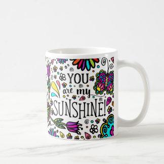 Bold Colorful Flower Love Paisley Kids Art Coffee Mug
