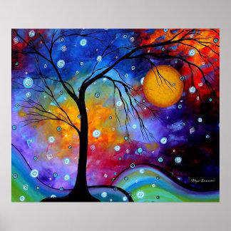 Bold Colorful Original Painting Landscape Art Poster